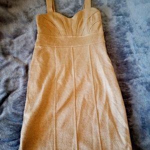 Banana Republic Gold Body Con Dress